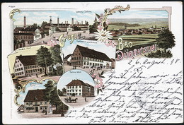 AK/CP Litho Gruss Aus Bad Dürrheim    Gel/circ. 1898   Erhaltung/Cond. 2  Nr. 01022 - Bad Duerrheim