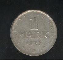 1 Mark Allemagne / Germany 1925 D - TTB+ - [ 3] 1918-1933 : Republique De Weimar