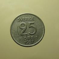 Sweden 25 Ore 1957 Silver - Schweden