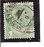 """Belgique N°26 Cachet Pour Imprimé+Heure Bloquée """"Bruxelles 5 - 1893-1907 Armoiries"""