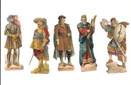 Lot De 5 Découpis, Antiquité,  PIERRE LE GRAND,ATTILA,DAVID,BAYARD,GUSTAVE ADOLPHE - Other