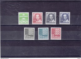 DANEMARK 1984  Série Courante Yvert 795-801 NEUF** MNH Cote : 25,25 Euros - Danemark