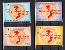 VIETNAM CARNET N°2180 à 2233  QUATRE CARNETS COTE ? €  MINORITES ETHNIQUES  COSTUME TRADITIONNEL - Vietnam