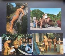 Ile Du Levant - NU FEMME - NUE - Lot De 4 Cartes Postales - 2 Scans - Nus Adultes (< 1960)
