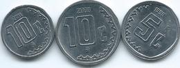 Mexico - 5 Centavos - 1998 - KM546; 1- Centavos - 2000 - KM547; 2011 - KM934 - Mexico