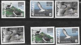 AITUTAKI, 2019, MNH,BIRDS, ALBATROSS, WWF, 6v OVPERPRINTS - W.W.F.