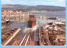"""La Ciotat (Bouches-du-Rhône)-Chantier Naval-Lancement D'un Bateau Aux Chantiers De La C.N.C-cachet """"La Ciotat-1981"""" - La Ciotat"""
