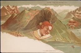 AK/CP  Berggesichter F. Killinger  Die Rigi     Ungel/uncirc. Um 1900   Erhaltung/Cond. 2/2-  Nr. 01025 - Ante 1900