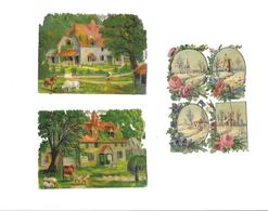 11532 - Lot De 3 Découpis, Paysages, Moulin, - Découpis