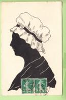 SILHOUETTE Femme Paysanne - 2 Scans - Silhouette - Scissor-type