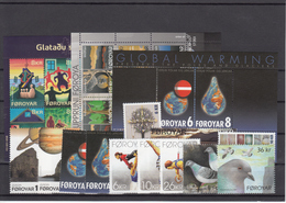 Faroe Islands 2009 - Full Year MNH ** Excluding Self Adhesive And Booklet Stamps - Faeroër