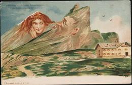 AK/CP  Berggesichter F. Killinger  Gemmipass   Ungel/uncirc. Um 1900   Erhaltung/Cond. 2/ 2-  Nr. 01027 - Illustrateurs & Photographes