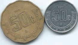 Mexico - 50 Centavos - 1993 - KM549 & 2011 - KM936 - Mexico
