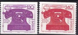 Schweden, 1976,  Mi. Nr.: 939/40,  MNH **, 100 Jahre Telefon, - Suède