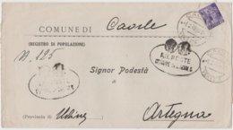 9291 Eb.  R.S.I. Repubblica Sociale - Plico Lettera - Caorle  Ortegna Udine - 1945 - 1944-45 République Sociale