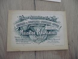 Carte Pub Publicité Représentant Melchior Raspilaire Lyon Parasols - Publicités