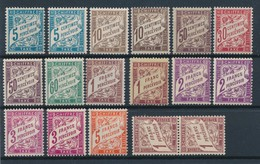 FRANCE - TAXE N° 28X2+29X2+37X2+33+38+40/40A+42X2+42AX2+66+40AX2 NEUFS* AVEC CHARNIERE - 1893/1941 - 1859-1955 Neufs