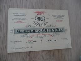 Carte Pub Publicité Représentant établissements Guttin Salon Huiles Et Graisses Industrielles Et Minérlales - Publicidad