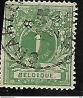 Belgique N° 26 Charleroi (Plaatfout) Le 1 Coupé En Bas 2 SCAN Lot S103 - 1869-1883 Léopold II