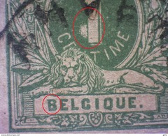 Belgique N° 26 Plaatfout (B Déformé) (tache Devant Le 1) Lot S104 - 1869-1883 Léopold II