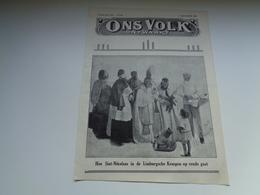 """Origineel Knipsel ( 2210 ) Uit Tijdschrift """" Ons Volk """"  1928 :   Sint - Niklaas In De Limburg  St. - Nicolas - Vieux Papiers"""