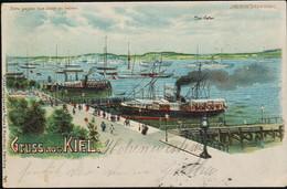 AK/CP Litho Kiel  Halt Gegen Licht     Meteor - Karte  Gel/circ.1900  Erhaltung/Cond. 2/2-  Nr. 01040 - Controluce