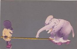 COLLAGE - ENFANT - ELEPHANT - Non Classificati