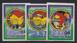 Guinée - 1982 - N°Yv. 700 à 702 - CEDEAO - Non Dentelé / Imperf. - Neuf Luxe ** / MNH / Postfrisch - Guinea (1958-...)