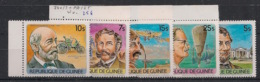 Guinée - 1984 - N°Yv. 740 à 743 + PA 165 - Célébrités - Neuf Luxe ** / MNH / Postfrisch - Guinea (1958-...)