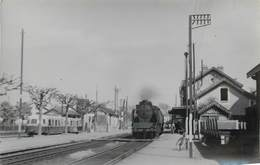 GARE DE DIGOIN - Locomotive 141P, Photo Format Carte Ancienne En 1951. - Gares - Avec Trains