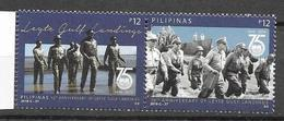 PHILIPPINES, 2019, MNH,WWII, LEYTE GULF LANDINGS, MILITARY, 2v - WW2