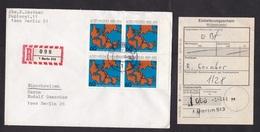 Germany-Berlin: Registered Cover, 1980, 4 Stamps, Map, Geology, Wegener, R-label, Certificate Of Posting (minor Damage) - [5] Berlino