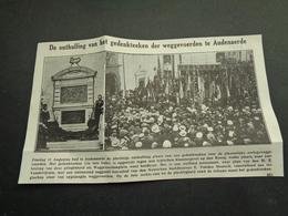 """Origineel Knipsel ( 3768 ) Uit Tijdschrift """" Ons Volk """"  1928 :   Audenaerde  Audenarde  Oudenaarde - Vecchi Documenti"""