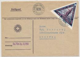 WK II - Soldatenmarke Auf Brief 219 GRENZTRUPPEN - Gz. Füs. Kp. III/269 - Posta Militare