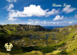 Easter Rano Kau Crater Rapa Nui UNESCO New Postcard Osterinsel AK - Rapa Nui