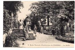 CPA 46 - CAHORS - ECOLE NORMALE D'INSTITUTEURS - LE JARDIN - Cahors
