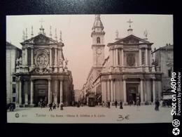 TORINO - VIA ROMA - CHIESA S. CRISTINA E S. CARLO ANIMATA, TRAM - Italia