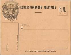 CORRESPONDANCE  MILITAIRE  F.M.  /   Drapeaux  République  Française  Liberté  Egalité  Fraternité - FM-Karten (Militärpost)