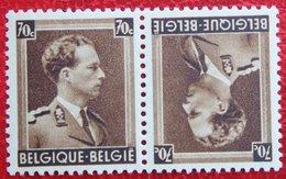 70c Keerdruk Tête-Bêche Koning Leopold III 1936 OBP 427 Kp20 (Mi 423) POSTFRIS / MNH ** BELGIE BELGIUM - Neufs