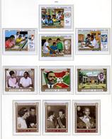Burundi 1970, éducation, 4 Ans République, Roi Baudouin, 422 / 428**+ Nd, PA 182 / 184**+ Nd + BF 41-41A-42-42A - Burundi