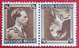 70c Keerdruk Tête-Bêche Koning Leopold III 1936 OBP 427 Kp20 (Mi 423) Ongebruikt/ MH BELGIE BELGIUM - Unused Stamps