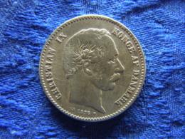 DENMARK 1 KRONE 1876, KM797.1 Scratched - Danemark