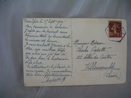 Trois Epis  Facteur Boitier Cachet Hexagonal - Postmark Collection (Covers)