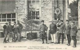 France - 88 - Col De La Schlucht Près De Valtin Et De Stosswihr - Les Poteaux Frontières Douaniers Français Et Allemands - Autres Communes