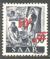 779 Sarre 1947 Mineur Miner Mining Femmes Women Sans Gomme (SAA-56) - Minéraux