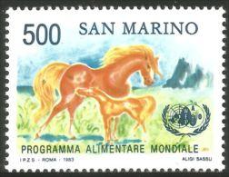 786 San Marino Cheval Horse Pferde Alimentation Food Program MNH ** Neuf SC (SAN-90b) - Food