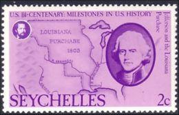 802 Seychelles 1803 Louisiana Purchase Achat Louisiane MNH ** Neuf SC (SEY-35) - Indépendance USA
