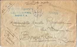 Env.  CAMP  DE  PRISONNIERS  DE  GUERRE  DE  LECHFELD  ( Allemagne )  /  Envoi  En 1918  à  BONNY-SUR-LOIRE  ( Loiret ) - Guerre De 1914-18