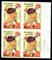 13179532 Belgium 19790224 Action Laïque Uilenspiegel ND Bl4 N°281 à 284 Cob1923 - Ongetande