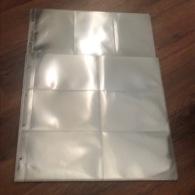 20 PAGES TRANSPARENTES POUR ALBUM SAFE  - CONTENANCE 240 CARTES POSTALES ANCIENNES - TRES BON ETAT - Materiali